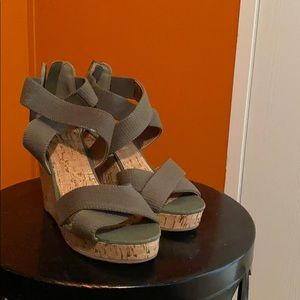 Army Green Wedges